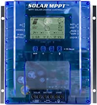 60 amp MPPT Solar Charge Controller, 12V/24V Auto 60A Solar Panel Charge Regulator with LCD Display Max 100V, 780W/1560W Input,for Lead-Acid Battery with Load Timer Setting (MPPT-P60AL)