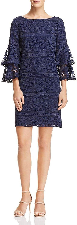 Eliza J Womens Lace Bell Sleeves Shift Dress