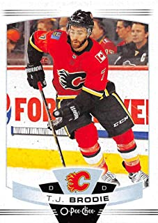 2019-20 O-Pee-Chee Hockey #138 T.J. Brodie Calgary Flames Official OPC NHL Trading Card From Upper Deck