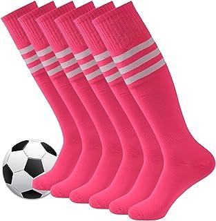 Fasoar Unisex Knee High Stripe Football Sports Tube Socks...