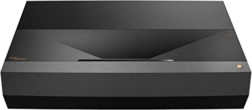 Optoma CinemaX P1 4K UHD Laser TV Home Theater Projector | Bright 3000 Lumens | Ultra Short Throw | Integrated NuForce Soundbar | Stream Netflix and Prime Video | Works with Alexa and Google Assistant