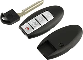 Key Fob Keyless Entry Smart Remote Shell Case & Pad fits Nissan Infiniti 2007 2008 2009 2010 2011 2012 2013 2014