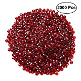SUPVOX Diamanti Decorativi matrimonio cristalli decorativi matrimonio 2000 pezzi (Viola Rosso)