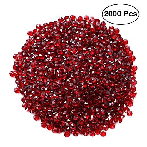 SUPVOX Deko Diamante Kristall Dekosteine Tischdeko Diamanten Hochzeit Streudeko 4,5mm 2000 Stück (Rot)