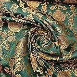 Textile Station Indischer Banarasi-Brokat-Stoff mit