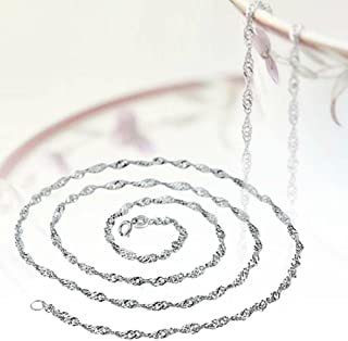 JUYIN Fashion Pure Solid 925 Sterling Silver Rope Chain Necklace with Lobster Clasp Charm Necklace