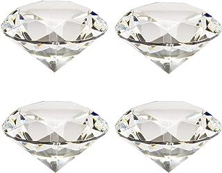 Etern 4PCS 40mm Diamante Sintetico, Artificiale Diamante Cristallo, Pietra Diamante Cristallo Fermacarte, per Decorazioni ...