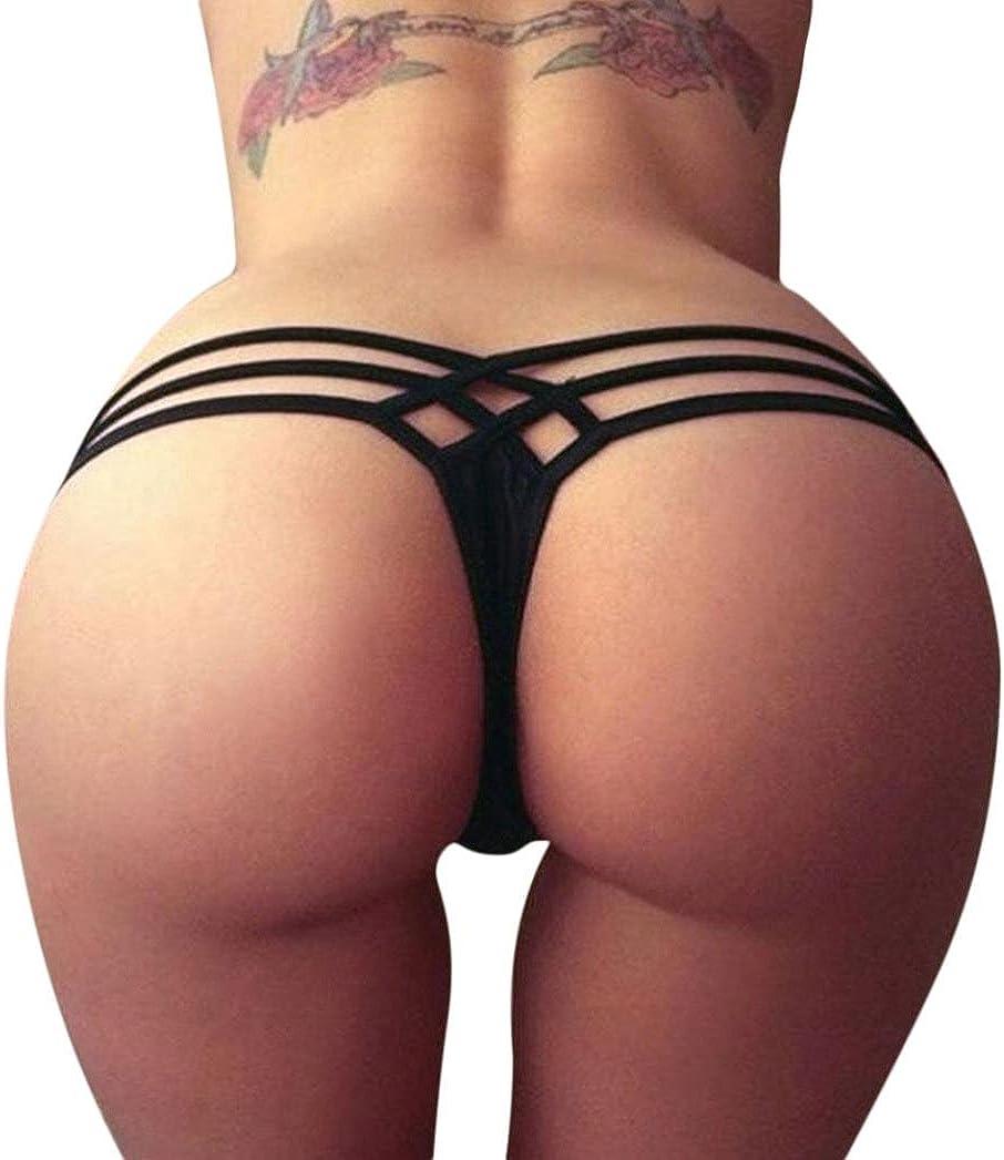 Women's Micro Cut Out Booty Shorts Strappy Low Rise Bikini Bottoms