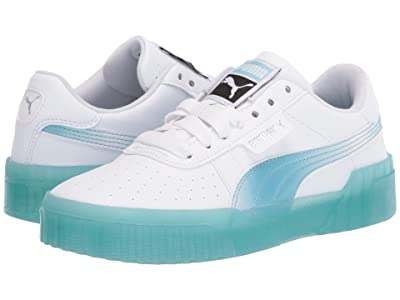 Puma Kids Cali Iced (Big Kid) (PUMA White/Milky Blue) Girls Shoes