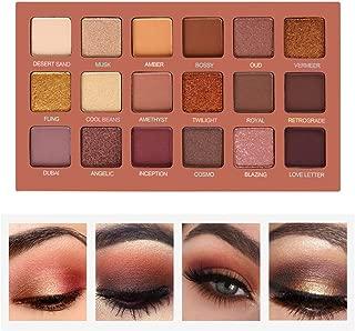 eujiancai Eyeshadow Palette Professional Smokey Eye Shadows Nudes Highly Pigmented 18 Warm Chocolate Colors Matte Shimmer Neutral Eyeshadow Makeup Kits