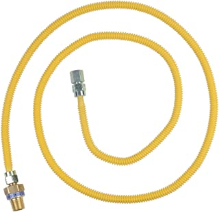 BrassCraft CSSL45R-72 P Safety PLUS Gas Appliance Connector with 3/8