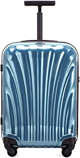 "SRY-Luggage PC Alloy Convenient Trolley Case, Super Storage Luggage Case, Wheeled Travel Rolling Boarding, 20"" 22"" 24"" 26"" Durable Carry on Luggage (Color : Blue, Size : 22inch)"