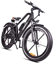 HJHJ Bicicleta de montaña eléctrica, Bicicleta híbrida de 26 Pulgadas/batería de Litio 18650 48V Amortiguador hidráulico de 6 velocidades y Frenos de Disco Delanteros y Traseros