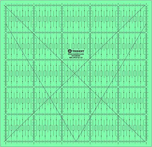 Base para Desenho e Corte, em PVC semi-rígido de 1, 5 mm, 27 x 27 cm PT.25X25 – Trident, PT.25X25, Verde, 27 x 27 cm