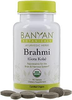 Banyan Botanicals Brahmi/Gotu Kola Tablets - USDA Organic - 90 Tablets - Centella asiatica - Brain & Nervous System Rejuvenative*
