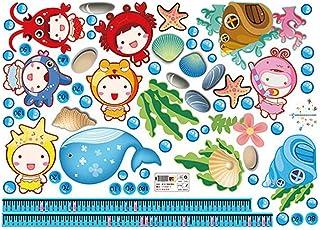 Artibetter Undersea Adventure Kids Height Sticker- Friendly Waterproof Wall Sticker Art Decal Removable Wall Decoration Ki...
