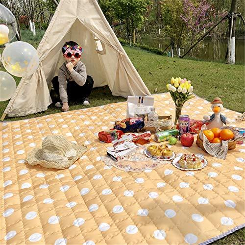 SHDT Manta De Picnic con Respaldo Impermeable, Alfombra Plegable Portátil para Exteriores, Alfombra De Playa para Jardín, para Senderismo, Viajes, Festival, Camping, Parque, 165 * 195 CM,B