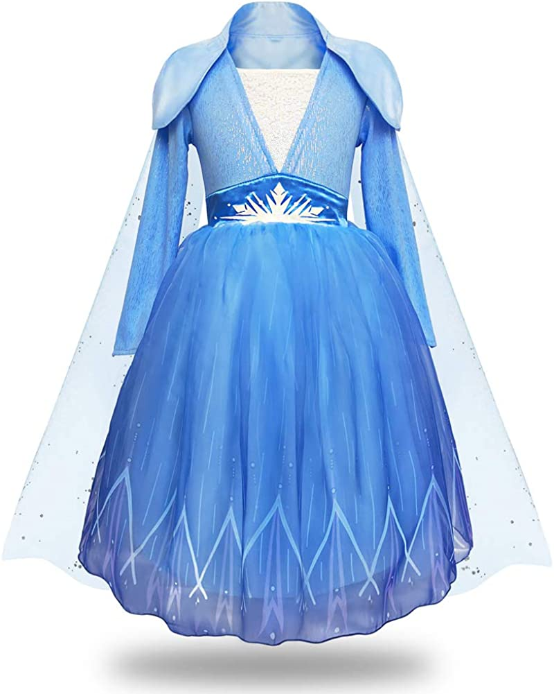 Girls Cinderella Costumes Halloween Princess Dress Up Fancy Birthday Party Ball Gown