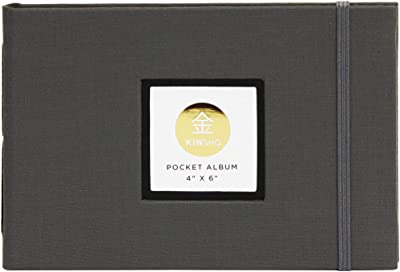 "Kinsho Pocket Albums, 4"" x 6"", Stone"