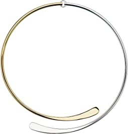 Belle Isle Gold Sculptural Metal Hinged Collar Necklace