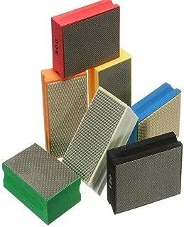 Sanding Blocks Polishing Grinding Block Diamond Polishing Hand Pads Block For Granite Marble Glass Grinding 60-3000Grit (120 Grit)