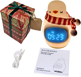 Cutest Night Light for Kids with Inbuilt Kids Alarm Clock - Rechargeable & Safe. Gift Wrapped for Your Convenience