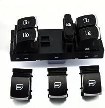 WINOMO Interruptor de ventana de coche para Volkswagen VW Jetta 5 6 Golf GTI 6 5 Touran Tiguan Caddy Passat b6 cc (negro)