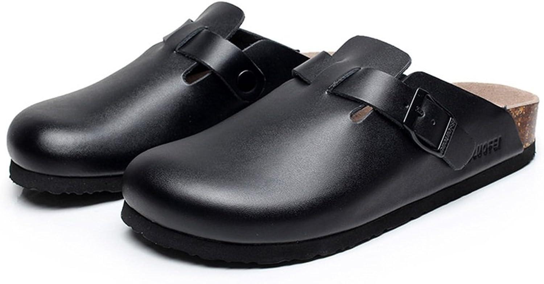 ZHANGRONG- Große Größe PU-Kork-Pantoffel-gehende Schuhe Der Der Der Männer Paar-Pantoffel (Farbe   Weiß, größe   39)  cb9d3e