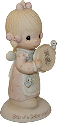 """Precious Moments Figurine """"Birds of a Feather Collect Together"""""""