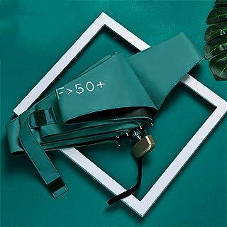 Ms. UV Sun Umbrella, Vinyl Or Silver Paste Coating, Dual Rain Or Shine, Color Options 37,Blackish green