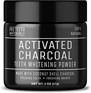 Activated Charcoal Natural Teeth Whitening Powder Peppermint Flavour by Pro Teeth Whitening Co - Manufactured in the UK