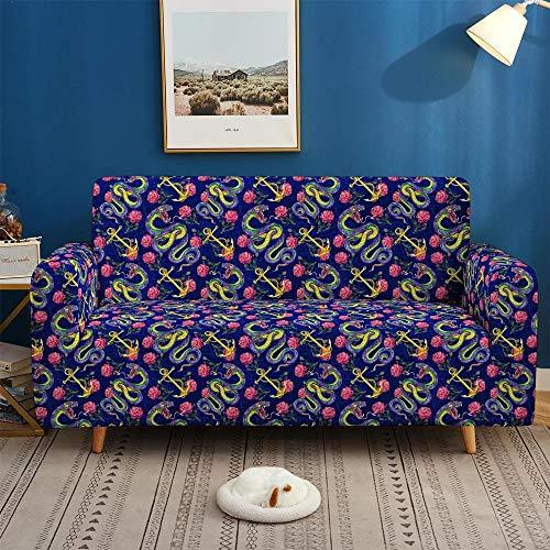 Para sofá y sillón de brazos,protector de muebles,Funda de sofá con hermosos paisajes 3D, estiramiento elástico para funda de sofá de sala de estar, funda de sillón 1/2/3/4 plazas-BIX19_1-asiento