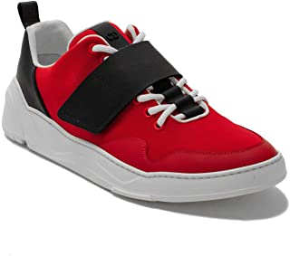 Dior Men's Leather/Canvas Trainer Sneaker Shoes Red