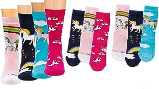 4-12 Paar Einhorn Socken Damen Mädchen Strümpfe Einhornsocken Glitzer unicorn