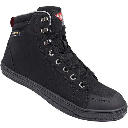 Lee Cooper Workwear SB/SRA Retro Baseball Boot, Unisex Modern Styling Safety Boot, Cordura Boot Black, 2 UK (36 EU)