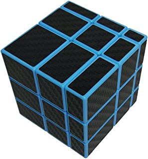 I-xun Smooth 3x3x3 Unequal Magic Cube, Carbon Fiber Sticker 3x3 Mirror Puzzle Cube (Blue)