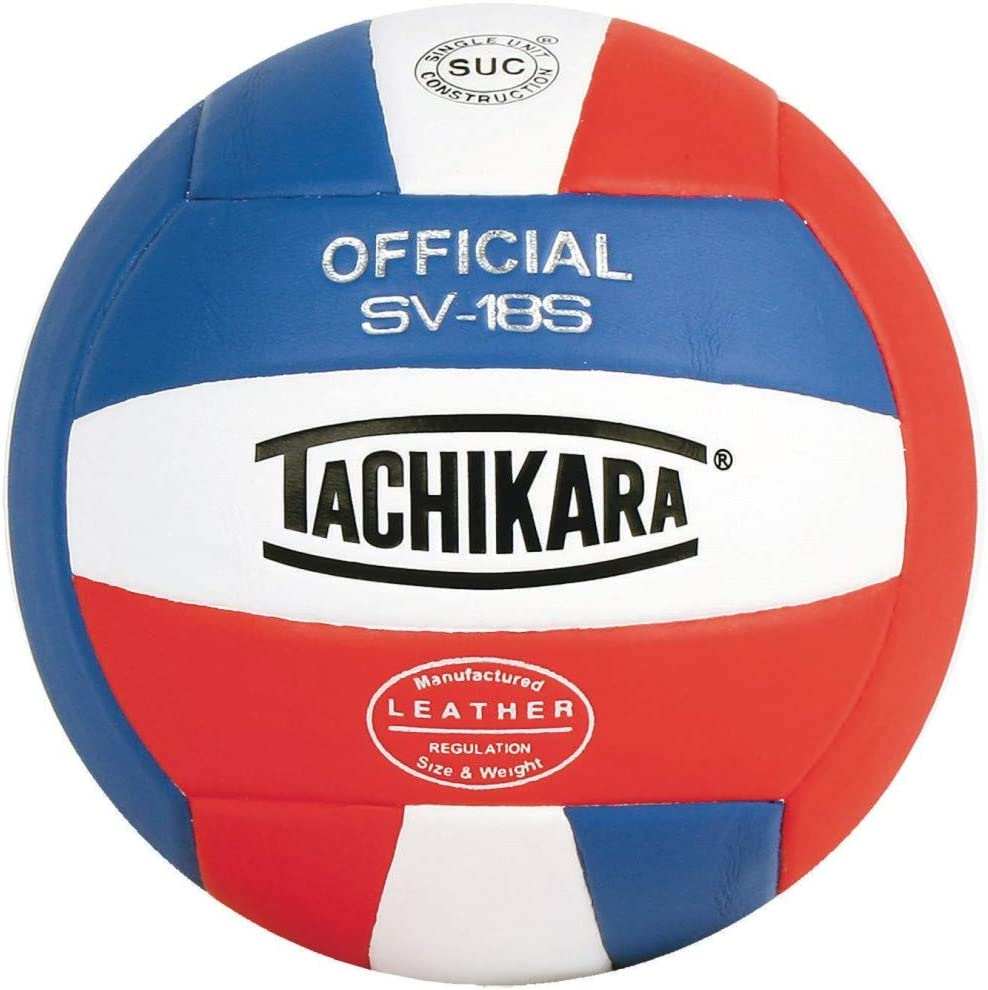 Royal-White Tachikara Institutional Quality Composite Leather Volleyball