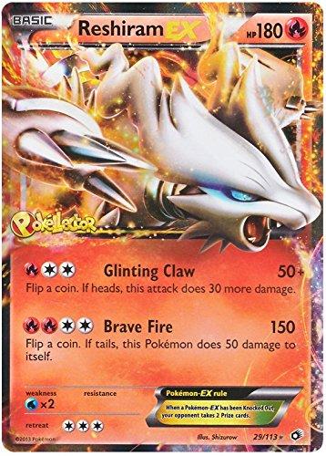Pokemon Trading Card - Reshiram Ex 29/113 Negro & Blanco (B&W) Tesoros Legendarios - Raro
