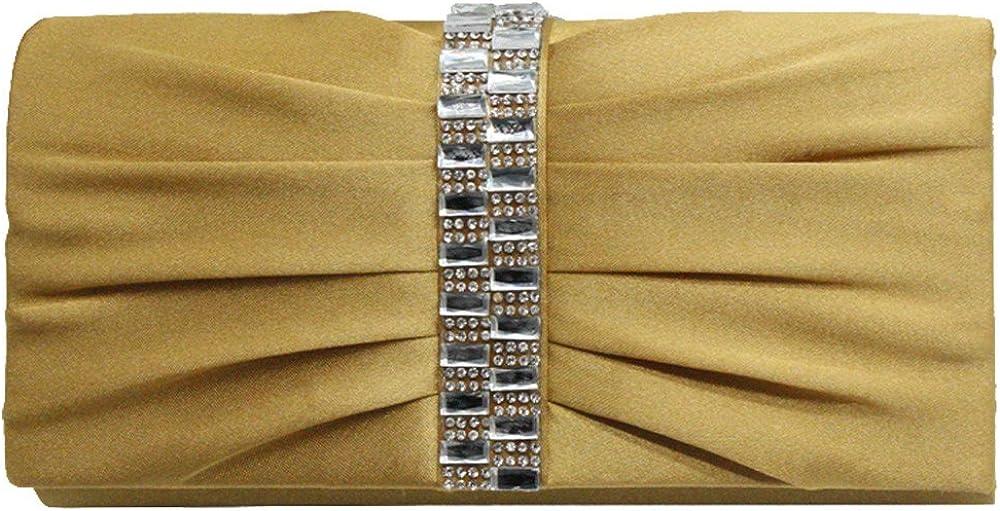 Wocharm New Womens Evening Handbag Crystal Diamante Bridal wedding handbag Clutch Shoulder Bag