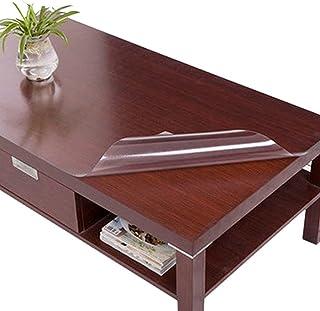 HHUU 2 mm tjock transparent bordskudde, vattentät klar PVC bordsskiva Protector Pads skrivbord matbord rektangulär bordssk...