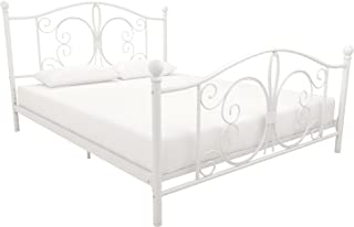 DHP 3246138 Bombay Metal Bed, Queen, White