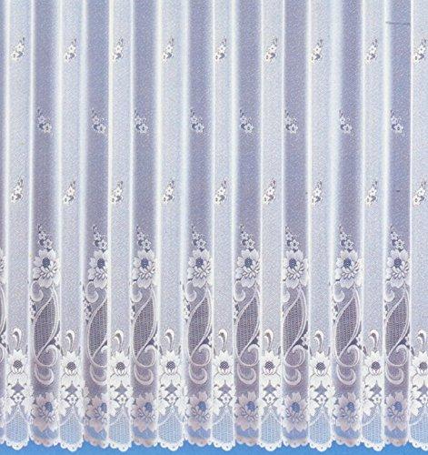wohnfuehlidee Fertig-Store Jacquard mit Kräuselband, transparent, Farbe weiß Größe HxB 160x300 cm
