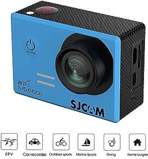 Saikogoods アクションカメラ 4K高画質 屋外用SJCAM SJ5000Xアクションスポーツカメラエリート水中ビデオカメラ30メートル防水カメラウルトラHD 4K 青