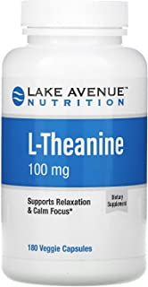 Lake Avenue Nutrition, L-Theanine, 100 mg, 180 Veggie Capsules