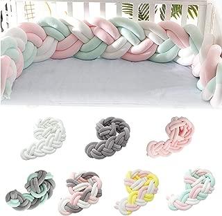 Biback Baby Crib Bumpers Braids Kids Room Decoration DIY Hand Made Twist Bed Circumference Long Knot Ball Pillow Crib Netting