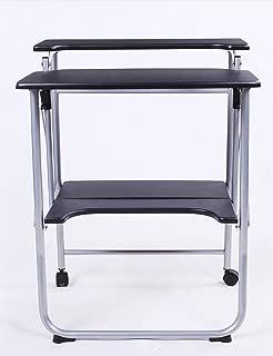 Simple Modern Double-decked Laptop Desk Folding Desk Desk Black  Color Size L W H  78cm
