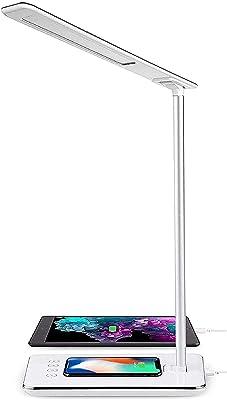 ARSUK Lámpara de escritorio, Luz de Dia Natural Ahorro de ENERGÍA Lámpara de sobremesa de LECTURA con 27w Repuesto económico Bombilla Luce