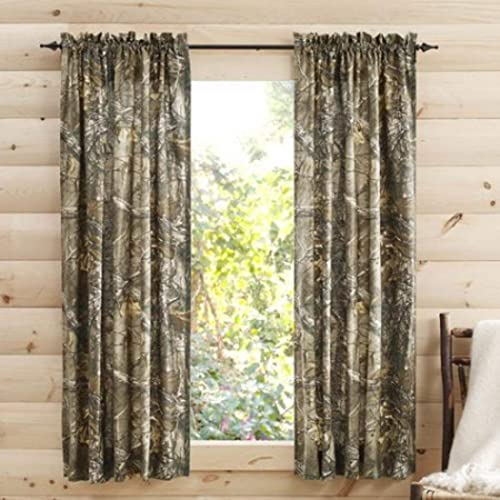 """Window 2 Panel Curtain Drapes Camo Camouflage Mossy Oak Home Man Cave 84/"""" New"""