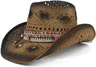 LiWen Zheng 2019 Summer Women Tassel Hollow Western Cowboy Hat Elegant Lady Sombrero Hombre Hat Fascinator Sunbonnet Sun Hat