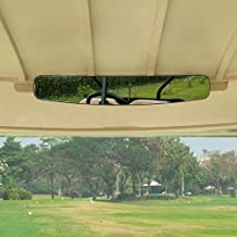 moveland Newest Golf Cart Rear View Mirror Without Vibration & Fall Off, Panoramic Mirror for EzGo, Yamaha, Club Car
